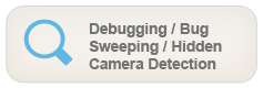 Debugging / Bug Sweeping / Hidden Camera Detection - Providing peace of mind in the home or office